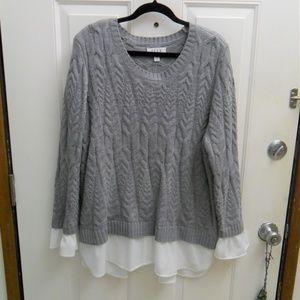 Elle Gray long sleeve sweater